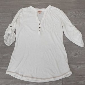 Mossimo Supply Co. white 3/4 sleeve blouse